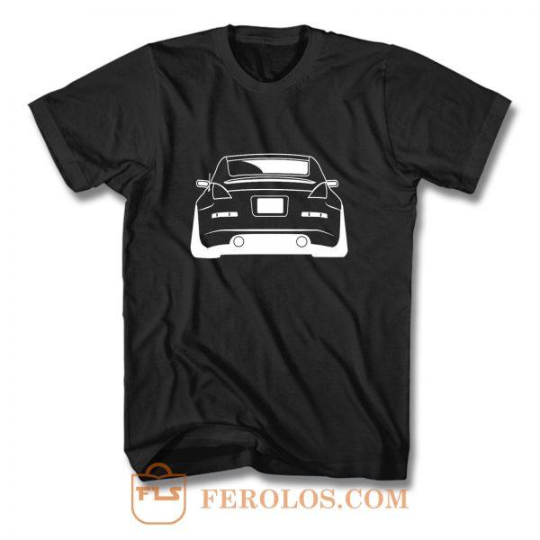 Nissan 350Z Outline Rear Car T Shirt