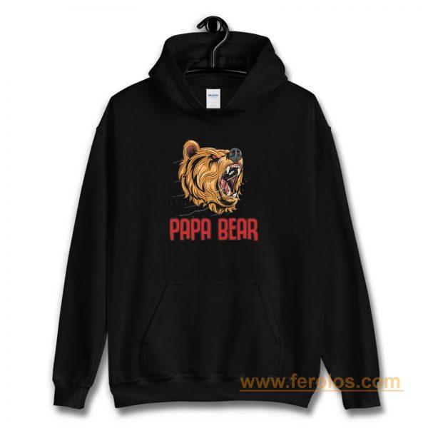 Papa Bear Honey BearGift For Dad Daddy Hoodie