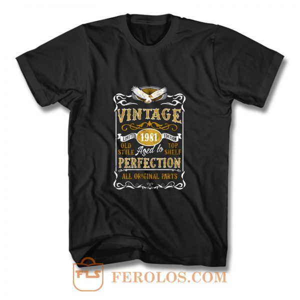 Personalised Made in 1981 Vintage T Shirt