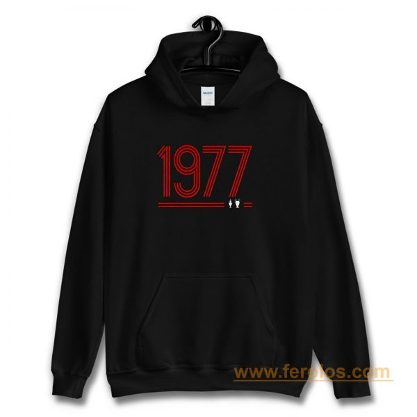 Retro 1977 Red Hoodie