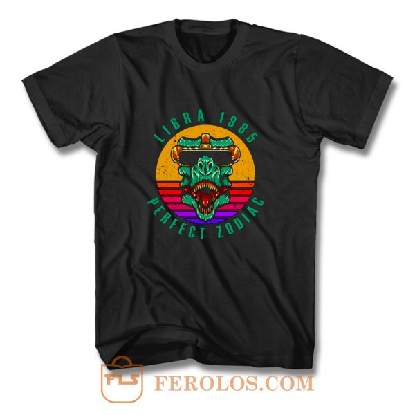 Retro Libra 1985 Perfect Zodiac 35th Birthday T Shirt