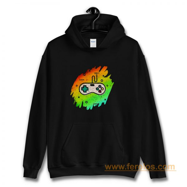 Retro Video Game Youth Vintage Gaming Distressed Hoodie