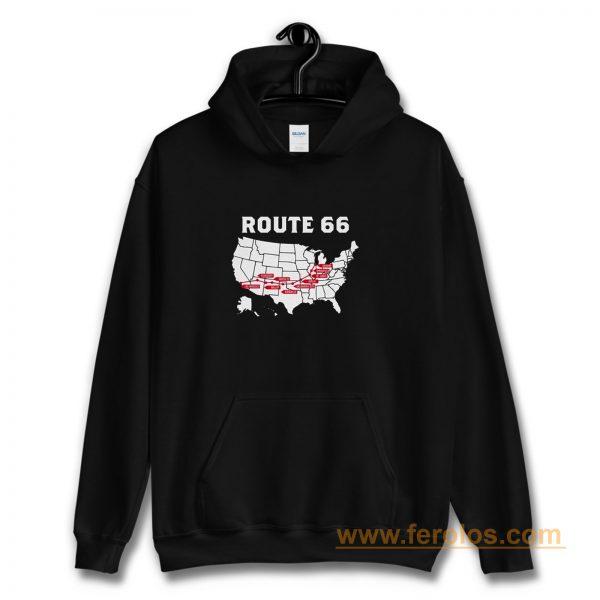 Route 66 Map Hoodie