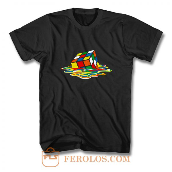Rubicks Cube Melting Sheldon Coopers T Shirt
