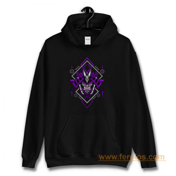 Samurai with Geometric Elements Hoodie