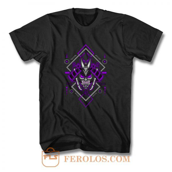 Samurai with Geometric Elements T Shirt