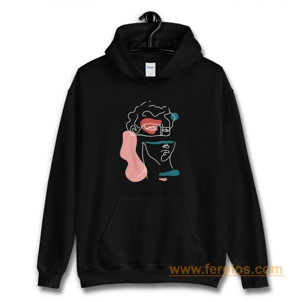 Statue of David Abstract Hoodie