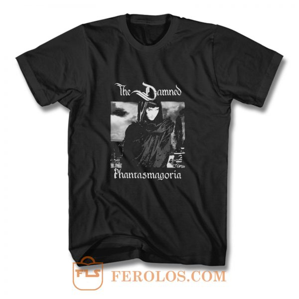 THE DAMNED PHANTASMAGORIA BLACK GOTHIC ROCK POST PUNK T Shirt