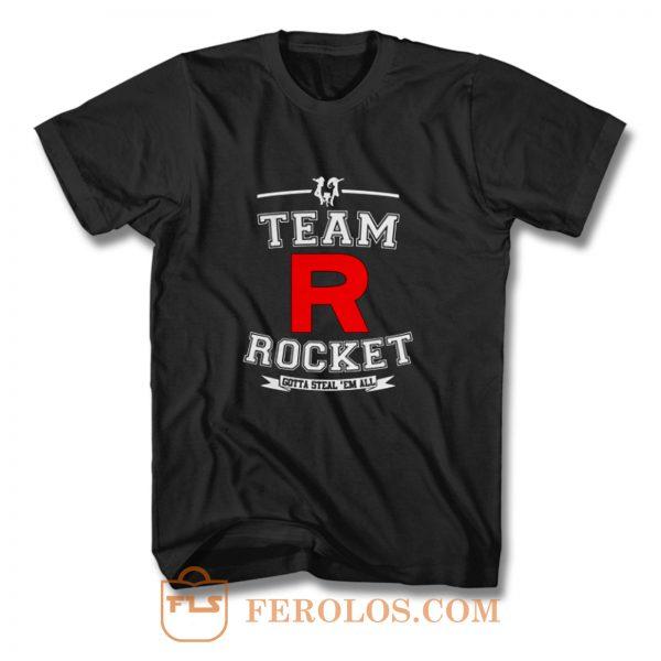 Team Rocket Gotta Steal Em All LADY FIT Pikachu Sun Moon T Shirt
