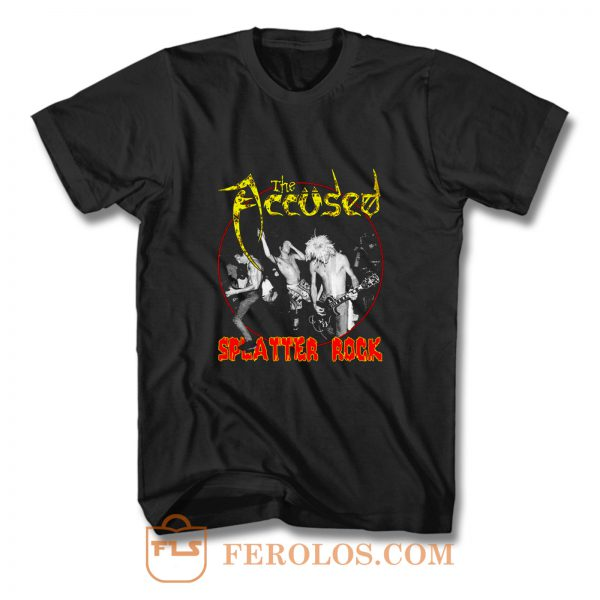 The Accused Splatter Rock T Shirt