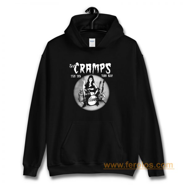 The Cramps Stay Sick Turn Blue Hoodie