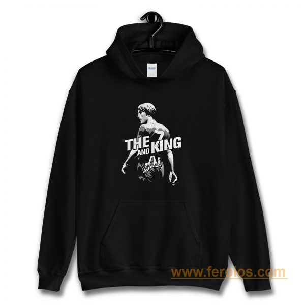 The King and AI White Text Hoodie