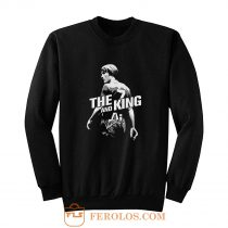 The King and AI White Text Sweatshirt