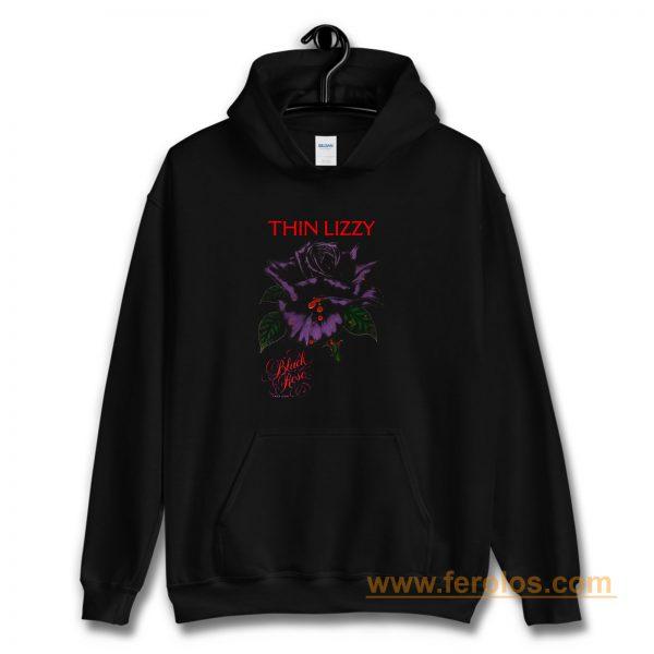 Thin Lizzy black rose Hoodie