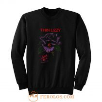 Thin Lizzy black rose Sweatshirt