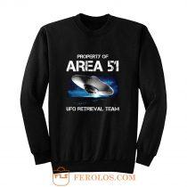 UFO Glow in the Dark Area 51 Spaceship Sweatshirt