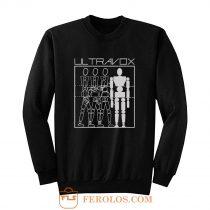 ULTRAVOX THREE INTO ONE BLACK NEW WAVE SYNTHPOP ART ROCK VISAGE Sweatshirt