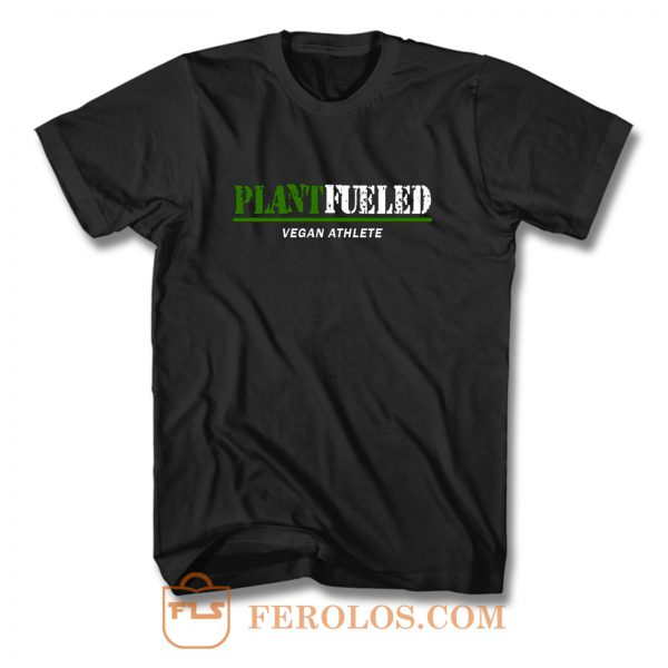 Vegan Gym PLANT FUELED Athlete T Shirt