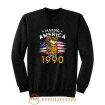 Vintage Beer 1990 Making America Great Since 1990 Beer Lover Sweatshirt