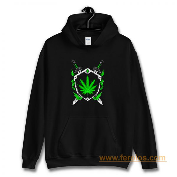 Weed Shield Cannabis Pot Funny Design 2020 gift top Hoodie