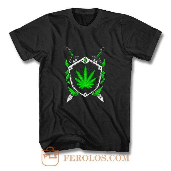 Weed Shield Cannabis Pot Funny Design 2020 gift top T Shirt