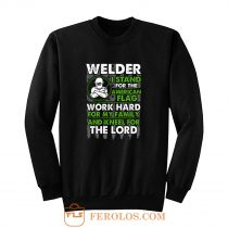 Welder I Stand For American Flag Sweatshirt