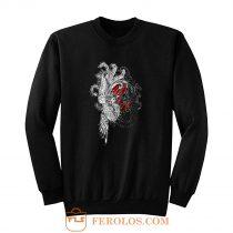 Wellcoda Yin Yang Beast Fantasy Sweatshirt