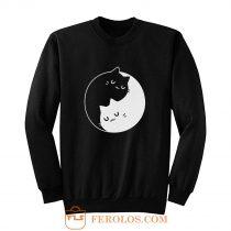 Yin Yang Cats Sweatshirt