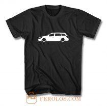 stra MK5 Estate Outline Silhouette car T Shirt