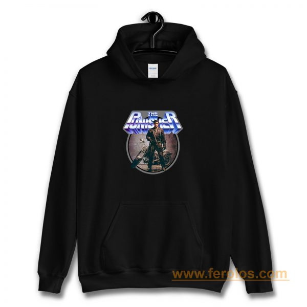 80s Comic Classic The Punisher Poster Art Hoodie