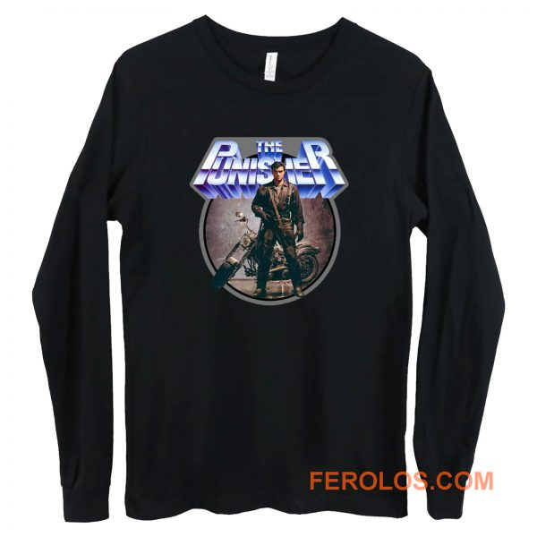 80s Comic Classic The Punisher Poster Art Long Sleeve