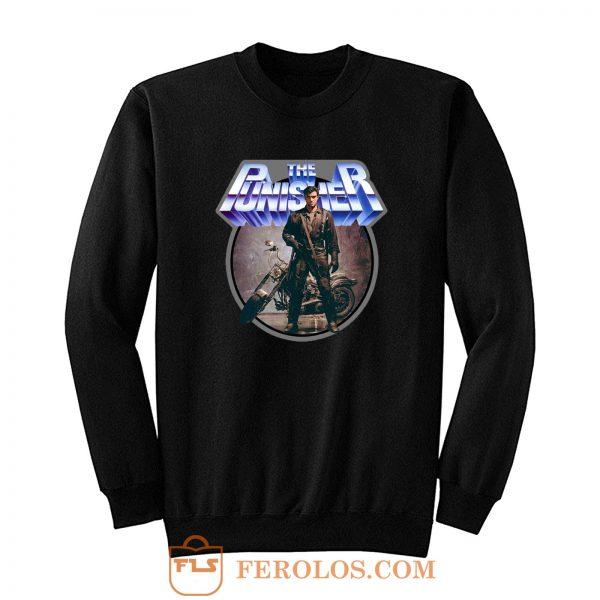 80s Comic Classic The Punisher Poster Art Sweatshirt