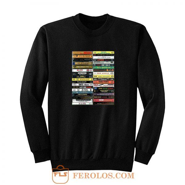 90s Hip Hop Cassette Tape Sweatshirt
