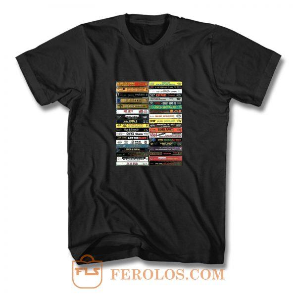 90s Hip Hop Cassette Tape T Shirt