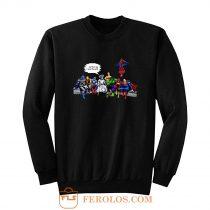 And Thats How I Saved The World Jesus Avengers Superheroes Sweatshirt