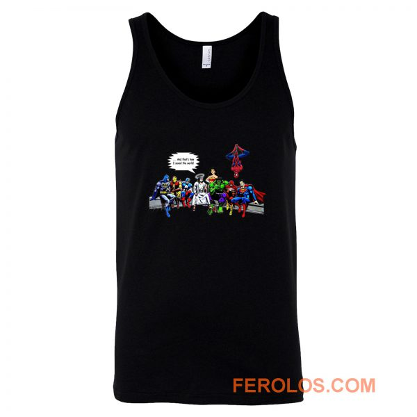 And Thats How I Saved The World Jesus Avengers Superheroes Tank Top