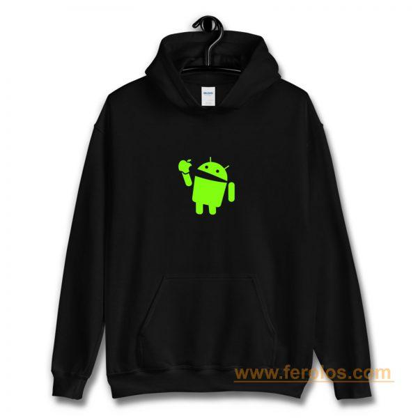 Android Eats Apple Hoodie