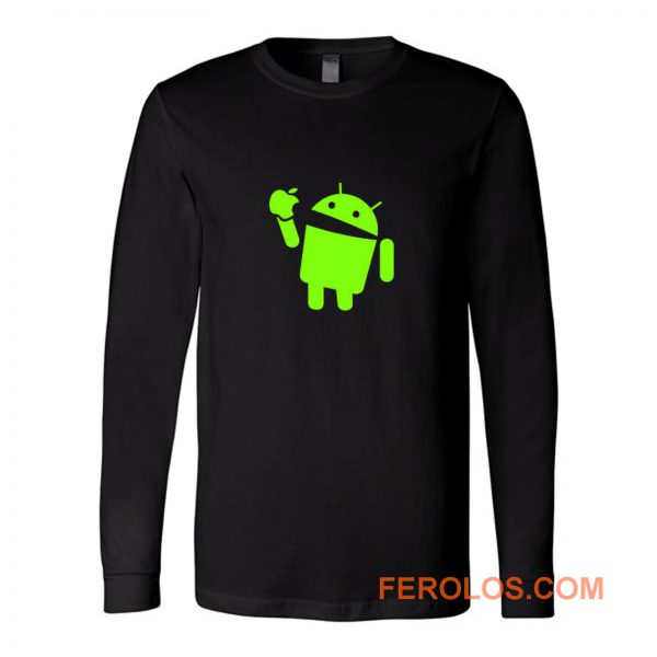 Android Eats Apple Long Sleeve
