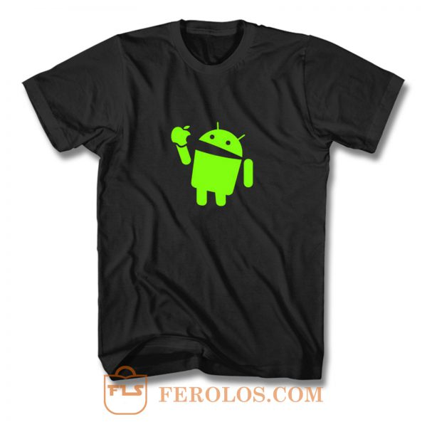 Android Eats Apple T Shirt