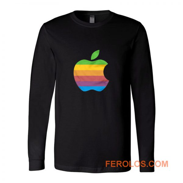 Apple Computer 80s Rainbow Logo Long Sleeve