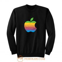 Apple Computer 80s Rainbow Logo Sweatshirt