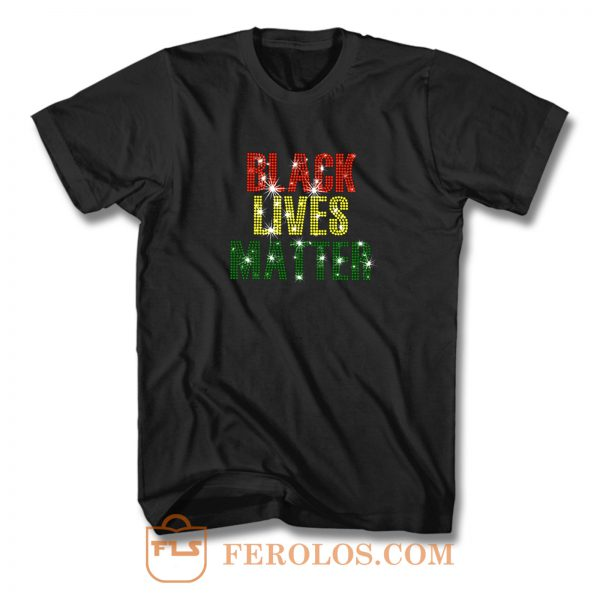 Black Lives Matter Rhinestone T Shirt