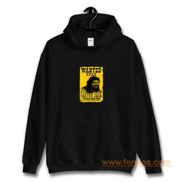 Cactus Jack Mick Foley Yellow Poster Wanted Dead Hoodie