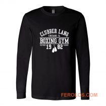 Clubber Lang Boxing Gym Retro Rocky 80s Workout Gym Long Sleeve
