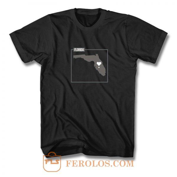 Florida State Map Art T Shirt