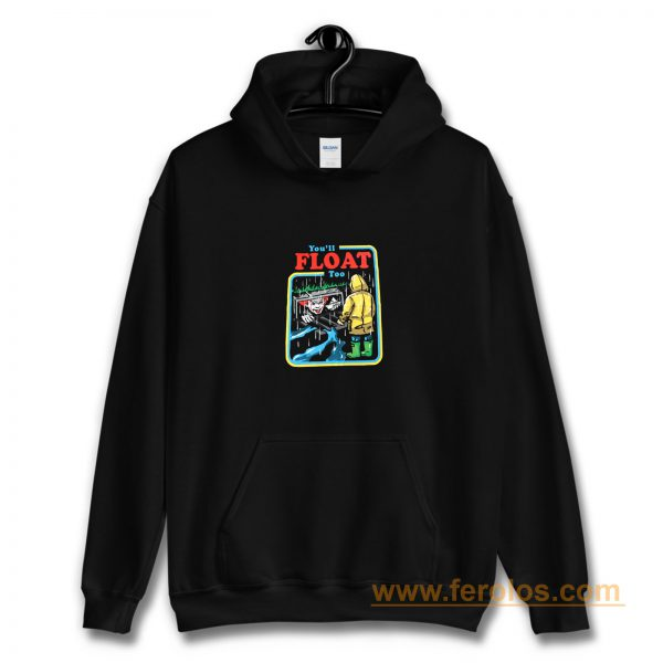 It The Movie Youll Float Too Georgie Pennywise The Clown Paper Boat Hoodie