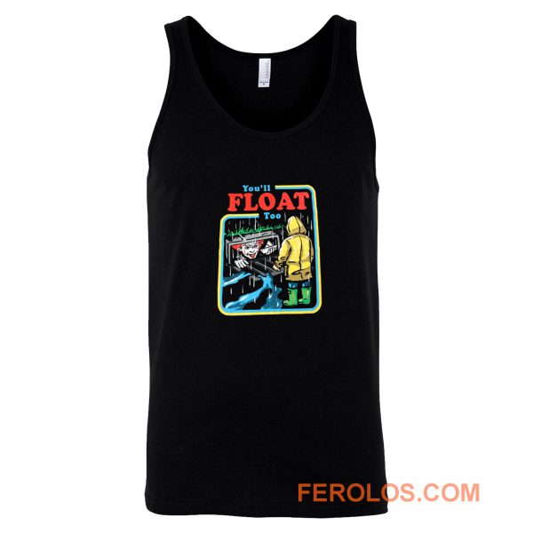 It The Movie Youll Float Too Georgie Pennywise The Clown Paper Boat Tank Top