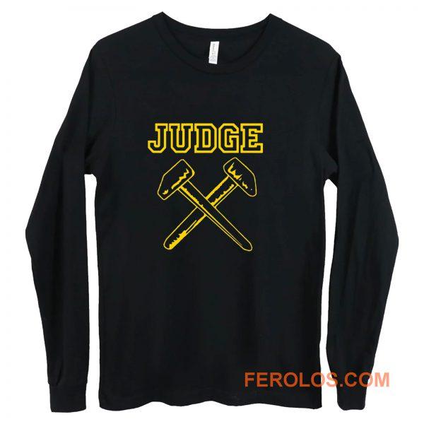 JUDGE HAMMERS BLACK HARDCORE NYC PUNK CROSSOVER THRASH Long Sleeve