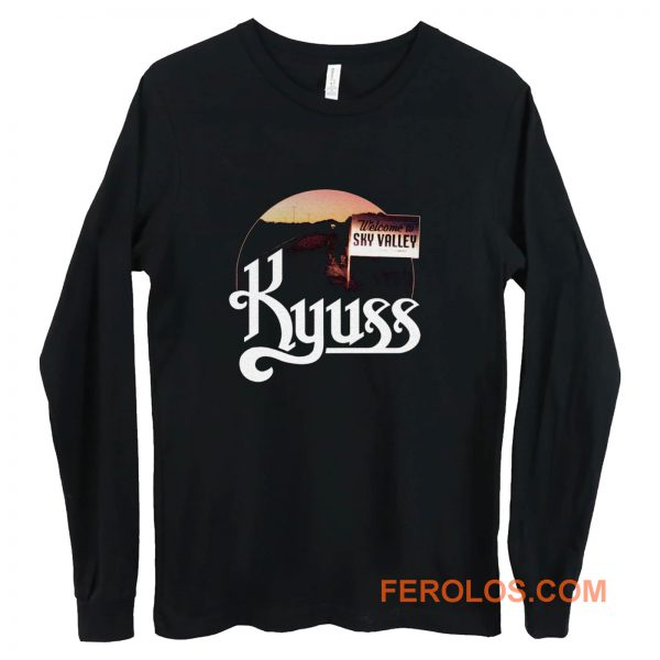 Kyuss Welcome to Sky Valley t Doom Stoner Metal Rock Band Tee Long Sleeve