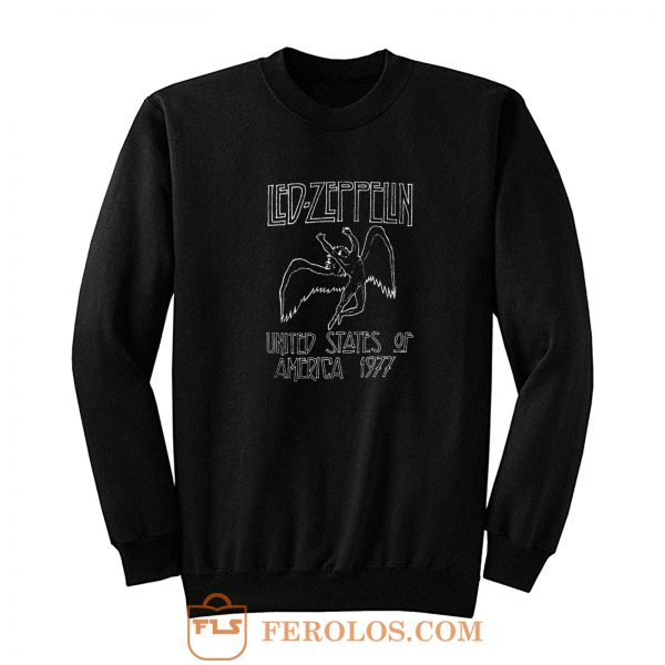 Led Zeppelin 1977 Us Tour Icarus Sweatshirt